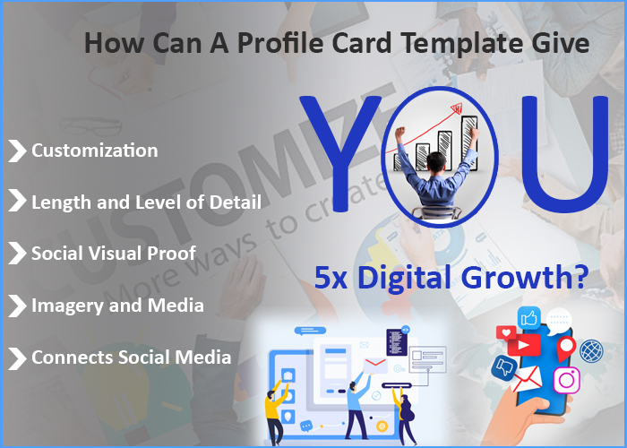 profilecard template give you 5x digital growth