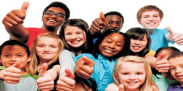 Happy children with DMIT